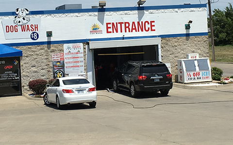 Squeaky clean tunnel and self serve car wash oil change and dog wash topeka ks exterior tunnel wash solutioingenieria Image collections